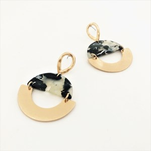 Crescent Hand Linked Earrings