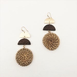 Natural Woven Shapes Earrings