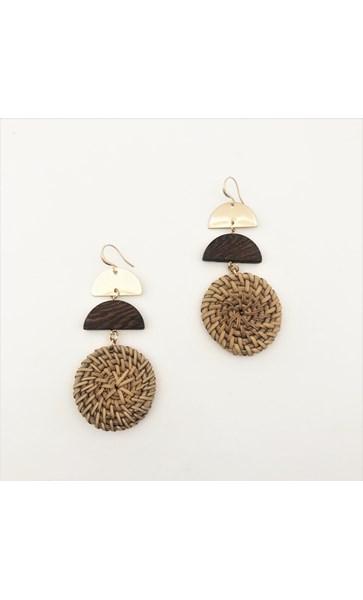Natural Woven Shapes Earrings