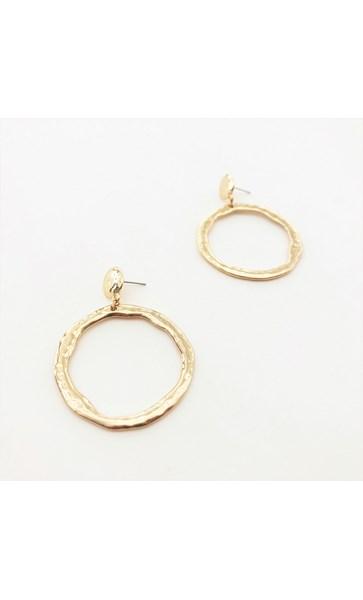 Beaten Ring Earrings