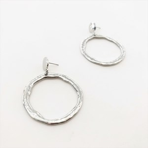 Beaten Ring Earrings
