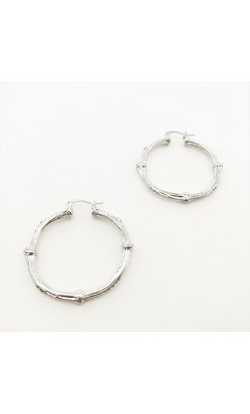 Metal Bamboo Hoop Earrings