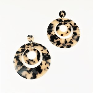 Layered Resin Rings Earrings