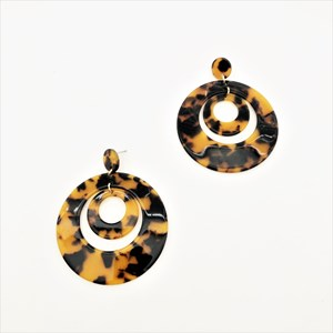 Layered Resin Rings Earrings