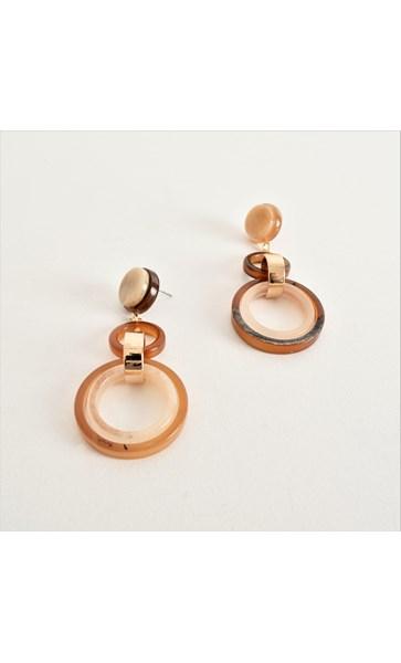 Resin Rings Drop Earrings