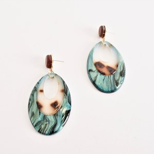 Oval Cut Out Resin Earrings
