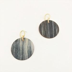 Timber Look Resin Metal Earrings