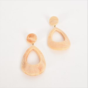 Resin Teardrop Cut Out Earrings