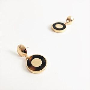 Mini Resin Disk Drop Earrings