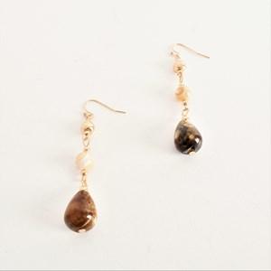 Handlink Stone Mix Drop Hook Earrings