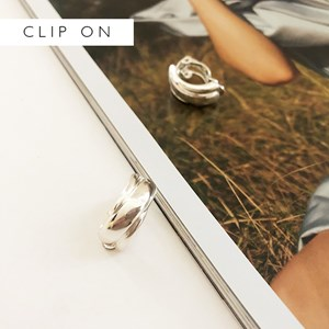 Moulded Half Hoop Clip On Earrings