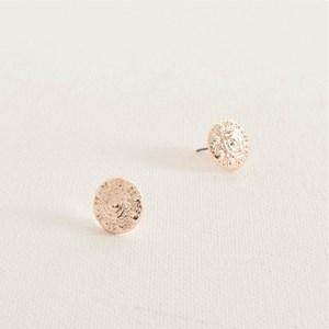 Floral Patterned Stud Earrings