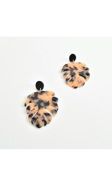 Monstera Resin Earrings