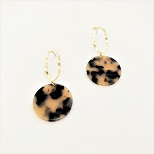Cut Out Top Resin Disc Earrings
