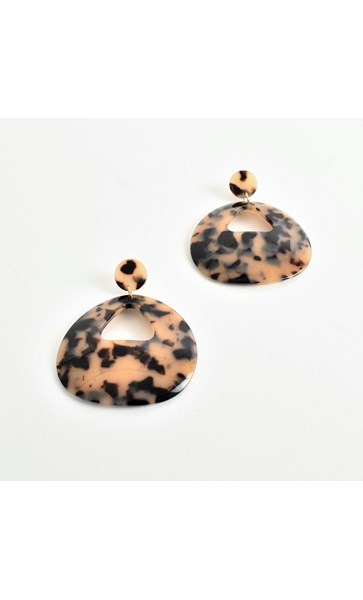 Curved Cut Out Resin Earrings