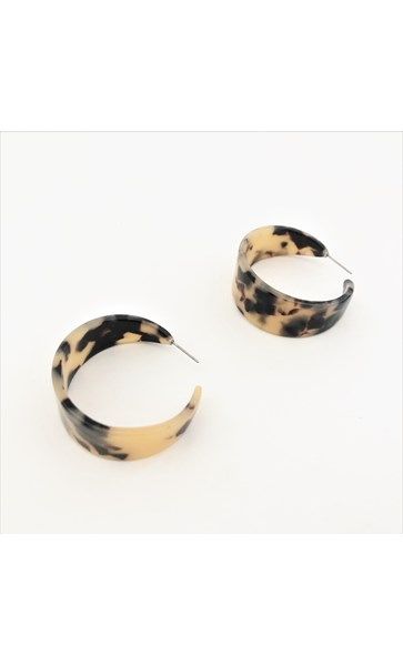 Wide Everyday Resin Hoop Earrings