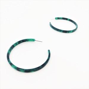 Fine Resin Everyday Hoop Earrings