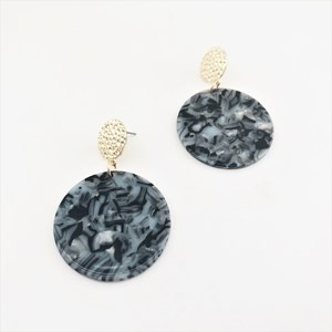 bc6cd17e30ece6 Mara Resin Disc Earrings