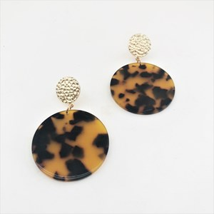Mara Resin Disc Earrings