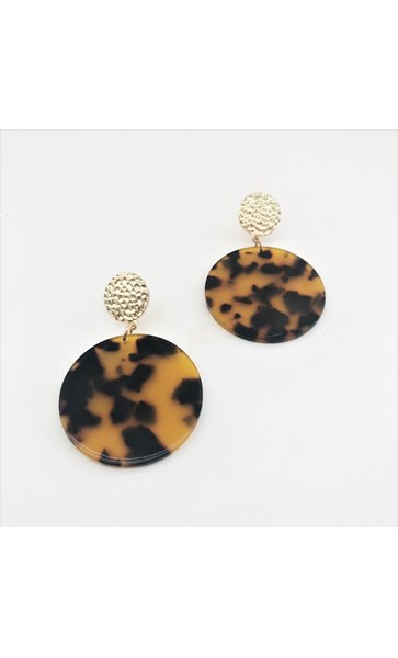 Mara Resin Disc Earrings