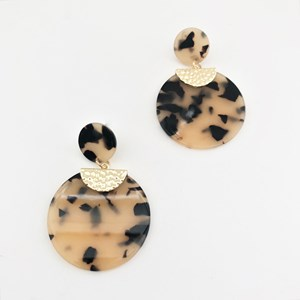Willow Resin Disc Earrings