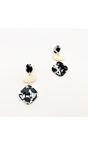 Juliet Metal Resin Shapes Earrings