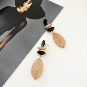 Carla Bead Drop Resin Earrings