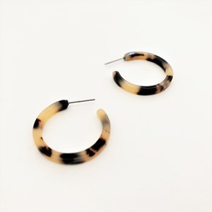 Gracie Mini Resin Hoop Earrings