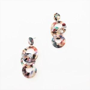 Iris Multi Rings Resin Earrings