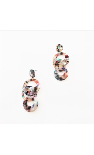 Iris Multi Rings Resin Earrings