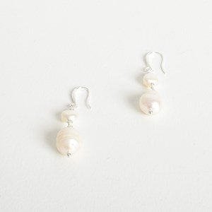Freshwater Pearl Drop Hook Earrings