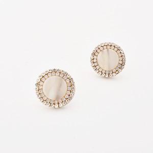 Diamante Edged Stud Earrings