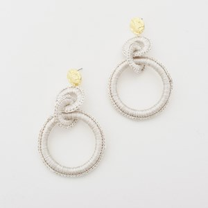 Crochet Edge Ring Drop Earrings