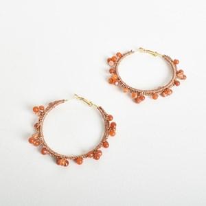 Beaded Edge Crochet Hoop Earrings