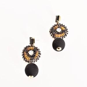 Jewel Top Ball Drop Earrings