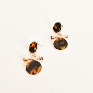 Fob Drop Resin Metal Earrings