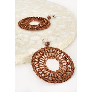 Dreamcatcher Beaded Hook Earrings