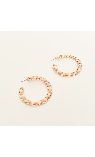 Coco Chain Weave Hoop Earring