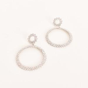 Diamante Duo Rings Earrings