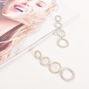 Diamante Rings Drop Earrings