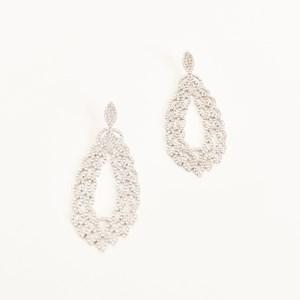 Almond Oval Diamante Earrings