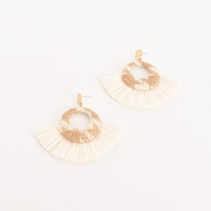 Contrast Weave Fringe Earrings