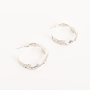 Metal Wreath Hoop Earrings