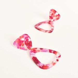 Tri Shapes Resin Earrings