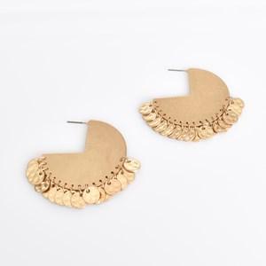Mini Coin Solid Hoop Earrings