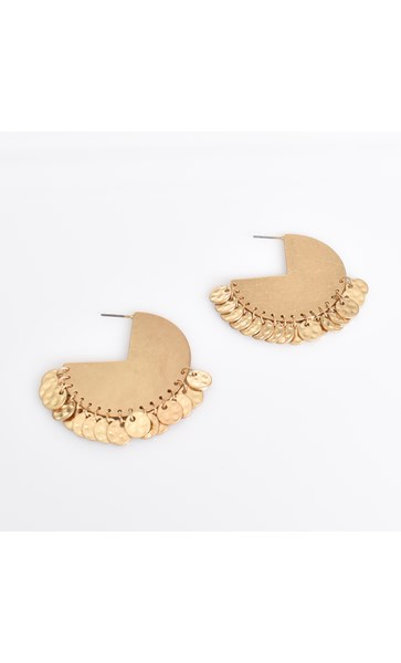 Mini Coin Solid Hoop Earrings