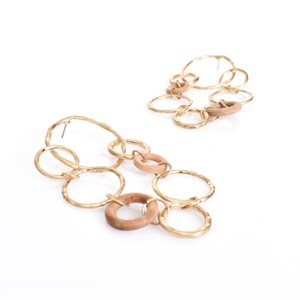 Ring Link Drop Earrings
