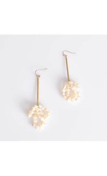 Rod & Pearl Drop Earrings