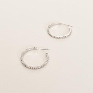 CZ Fine Hoop Earrings