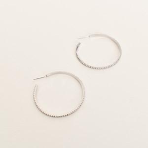 CZ Hoop Earrings